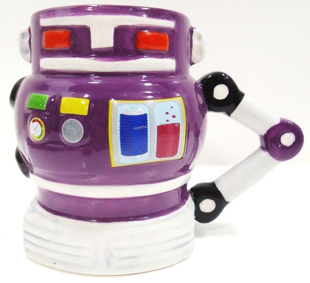 CLASSIC - 1950's - RETRO - ROBOT - COFFEE - TEA - MUG - CUP - NEW - COLLECTIBLE