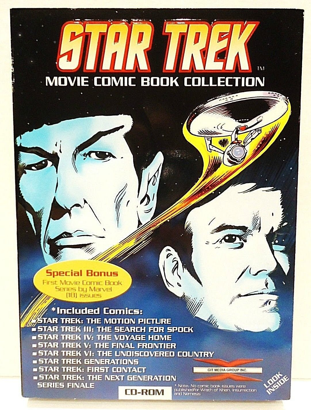 STAR TREK - MOVIE - COMIC - BOOK - COLLECTION - NEW - CD-ROM - PC - MAC - SPOCK