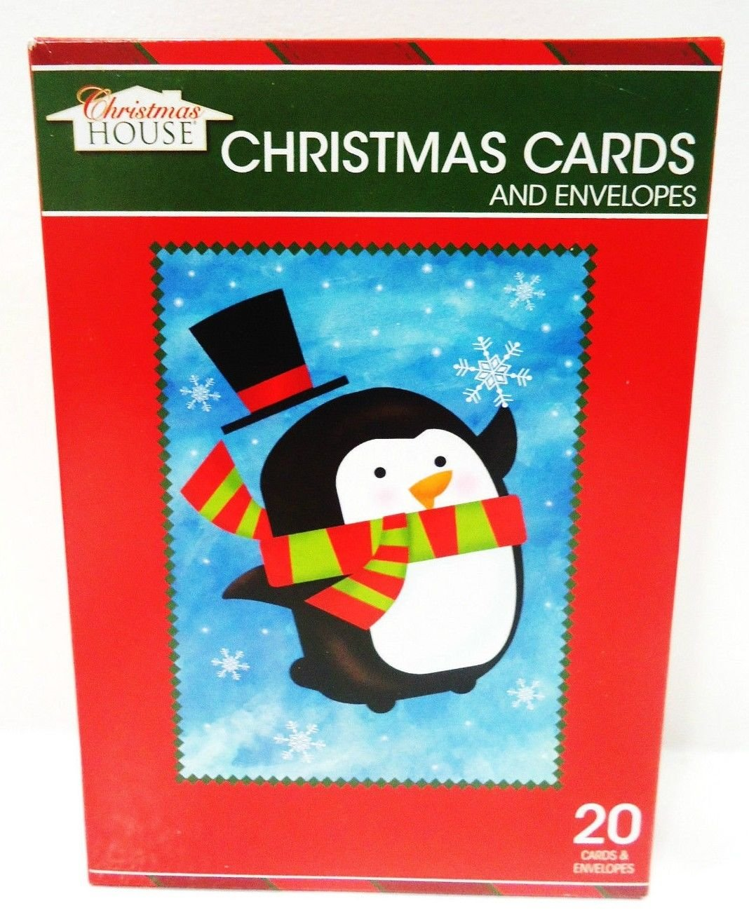 HOME ELEMENTS - 20 PCS. - CHRISTMAS - CARDS - ENVELOPES - BOXED - SET - NEW - #1