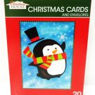HOME ELEMENTS - 20 PCS. - CHRISTMAS - CARDS - ENVELOPES - BOXED - SET - NEW - #1