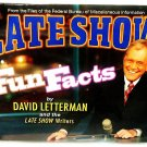 LATE SHOW FUN FACTS - DAVID LETTERMAN - THE LATE SHOW - COMEDY - BOOK - NEW - TV