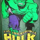 MARVEL - THE INCREDIBLE HULK - L - GREEN - BLACK - RETRO - TEE - NEW - AVENGERS