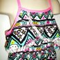 HELLO KITTY - GIRL'S - BLACK - WHITE - PINK - FLORAL - DRESS - SMALL 6/6X - NEW