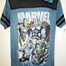 MARVEL - AVENGERS - XL - BLUE - BLACK - T-SHIRT - NEW - IRON MAN - THOR - HULK