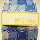 MICHAEL KORS - BLUE - AQUA - PURPLE - CIRCLES - SILK - TIE - NEW - ACCESSORIES