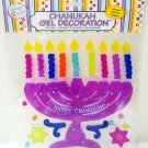 RITE LITE - MENORAH - CHANUKAH - WINDOW - GEL - DECORATION - PURPLE - BRAND NEW