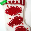 "HOME ELEMENTS - CHRISTMAS - 19"" - MEOW - CAT - KITTEN - PET - STOCKING - NEW"