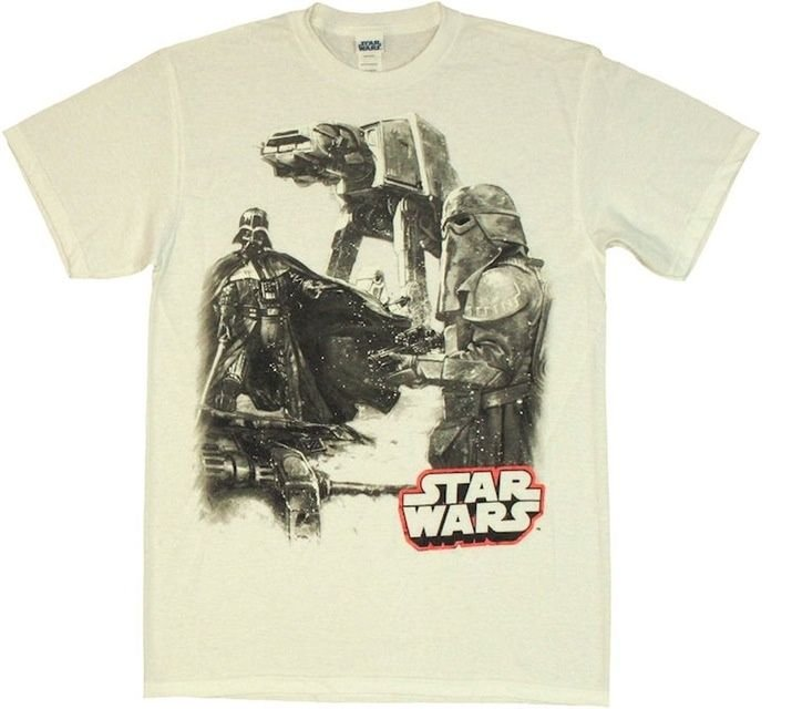 DISNEY - STAR WARS - WHITE - DARTH VADER - AT-AT - SNOW TROOPER - XL - TEE - NEW