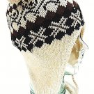 SHERPA - KNIT - SKI - SKULL - BEANIE - WINTER - CAP - NEW - WINTER - HAT - IVORY
