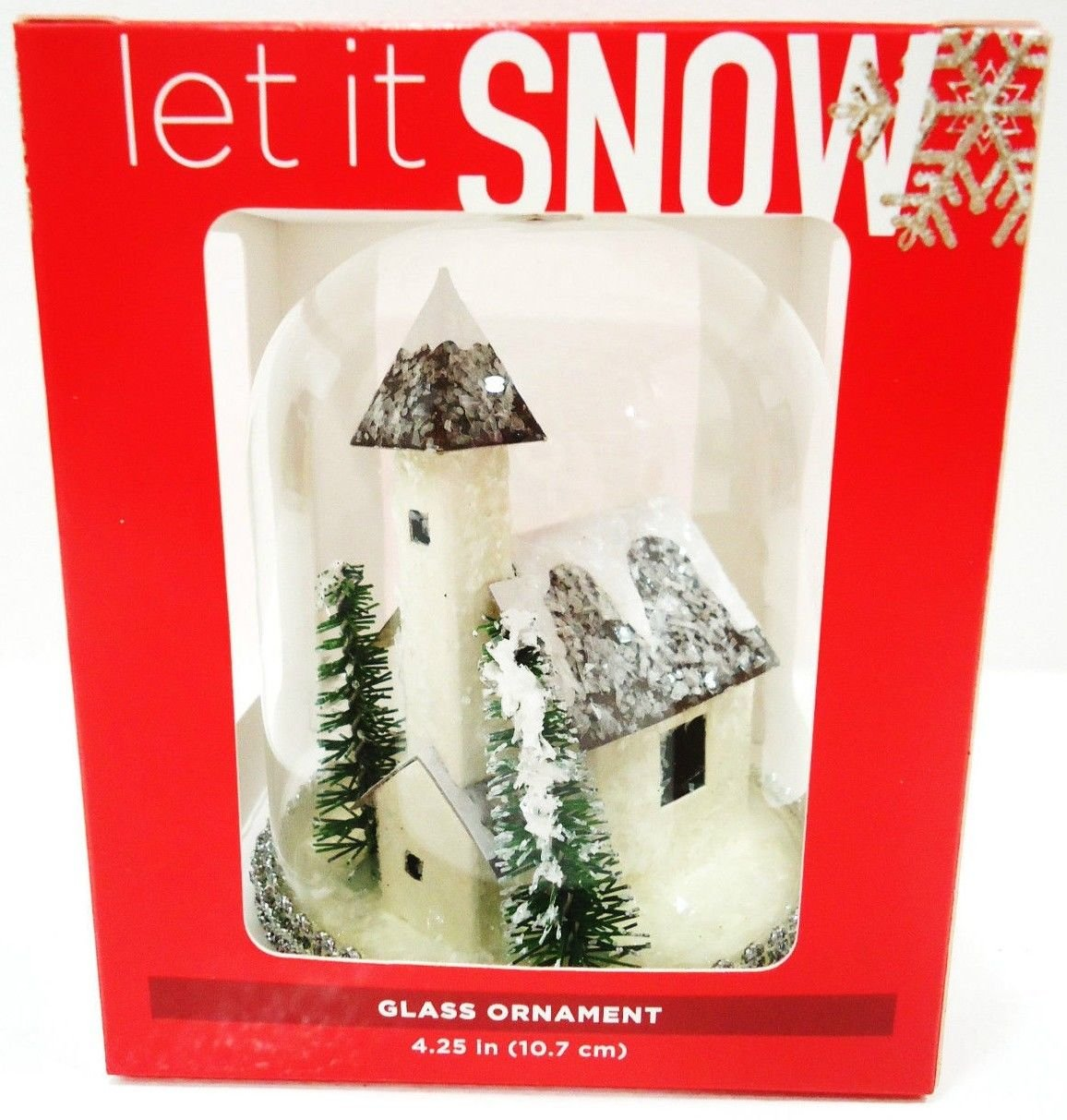 HOME ELEMENTS - CHRISTMAS - SNOW - WINTER - VILLAGE - GLASS - ORNAMENT - NEW