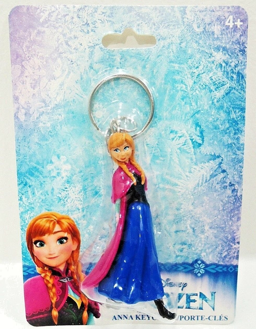 DISNEY - FROZEN - MOVIE - ANNA - COLLECTIBLE - KEY CHAIN - FOB - NEW - SEALED