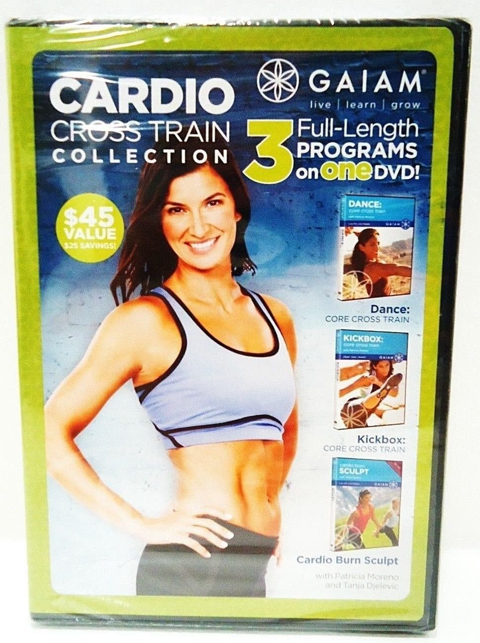 GAIAM - CARDIO - CROSS TRAIN - COLLECTION - WORKOUT - FITNESS - EXERCISE - DVD