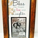 BLESS THIS HOUSE WITH LOVE AND LAUGHTER - PHOTO - PICTURE - FRAME - BRAND NEW
