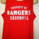 OAKLEY - TEXAS RANGERS - MAJOR LEAGUE - BASEBALL - RED - TANK - TOP - MLB - NEW