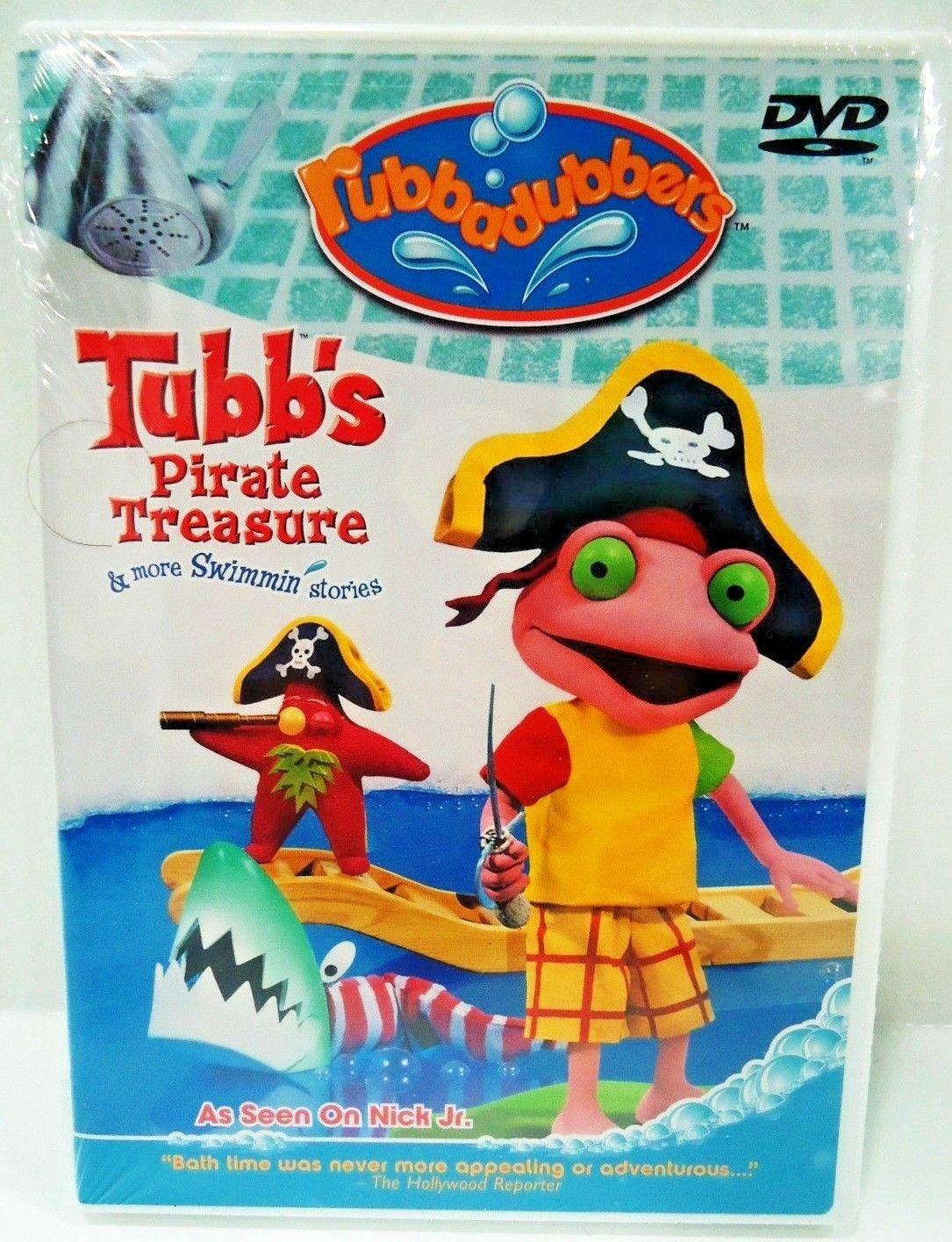 RUBBADUBBERS - TUBB'S PIRATE TREASURE - DVD - NEW - SEALED - NICK JR. - CARTOON