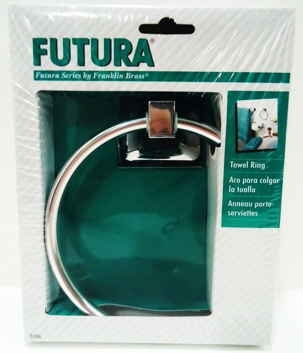 FRANKLIN BRASS - FUTURA - CHROME - TOWEL - RING - BRAND NEW - SEALED - BATHROOM