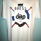GUESS - SNAKE - ARROW - CREW - TEE - LARGE - WHITE - T- SHIRT - BRAND NEW - TEE