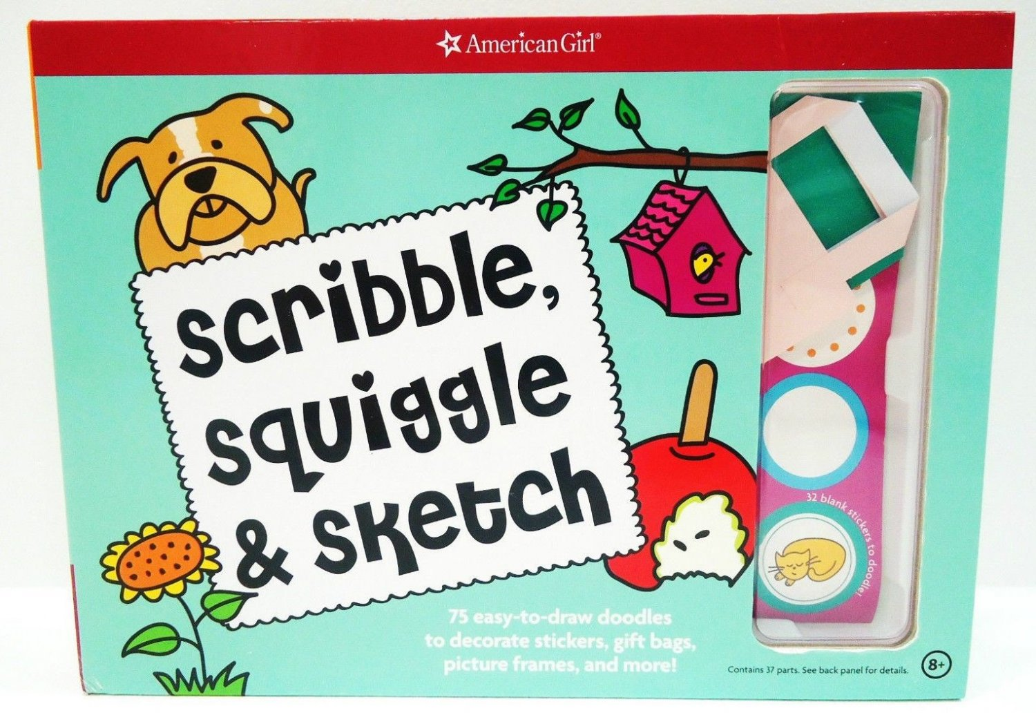 AMERICAN GIRL - SCRIBBLE - SQUIGGLE - SKETCH - BOOK - NEW - ARTS - CRAFT - KIT