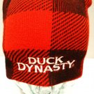 DUCK DYNASTY - PLAID - RED - BLACK - SKULL - SKI - BEANIE - CAP - HAT - NEW