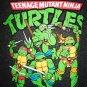 TEENAGE MUTANT NINJA TURTLES - BLACK - GREY - VARSITY - LARGE - T-SHIRT - NEW