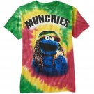 SESAME STREET - COOKIE - MONSTER - WEED - MUNCHIES - TIE DYE - TEE - RASTA - NEW