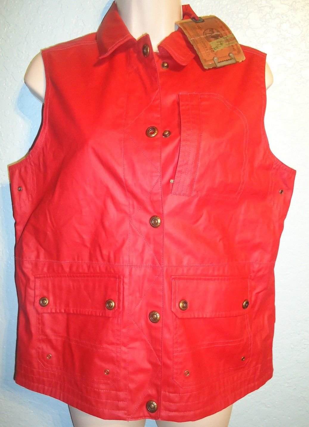 RALPH LAUREN - POLO - RL - RED - MILITARY - YACHT - NAVAL - VEST - SMALL - NEW