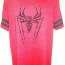 MARVEL - XL - RED - BLACK - SPIDER-MAN - T-SHIRT - NEW - AVENGERS - DEADPOOL