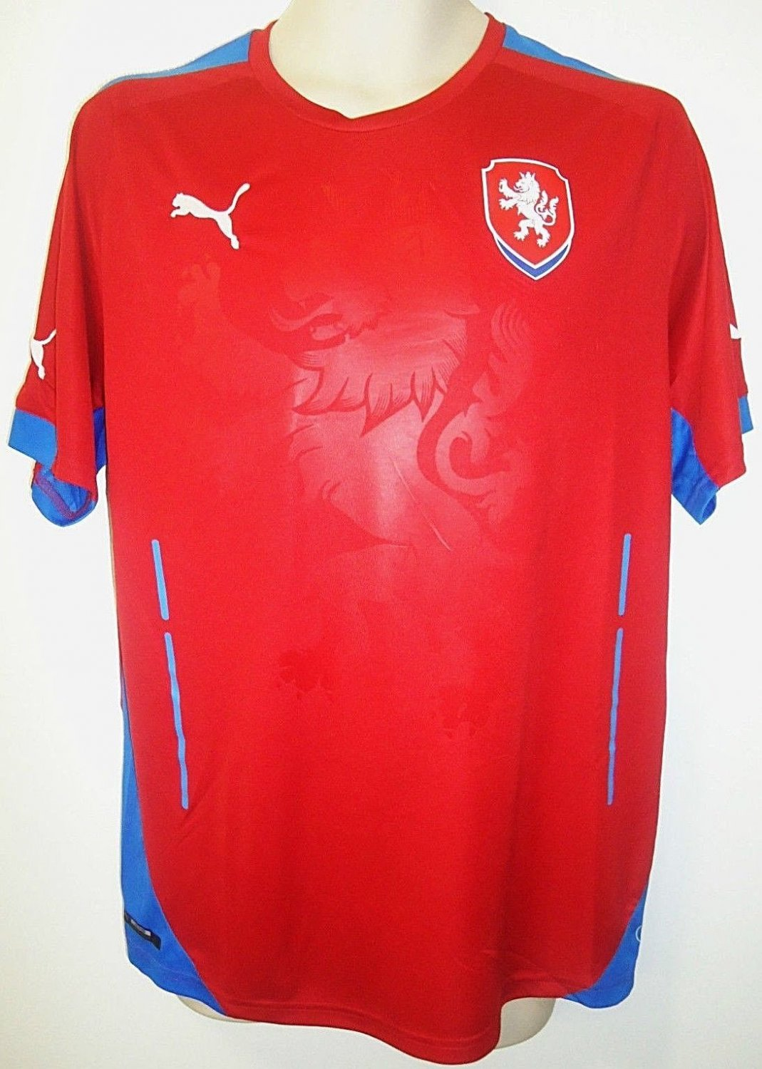 PUMA - CZECH REPUBLIC - HOME - LARGE - RED - BLUE - SOCCER - JERSEY - MLS - NEW