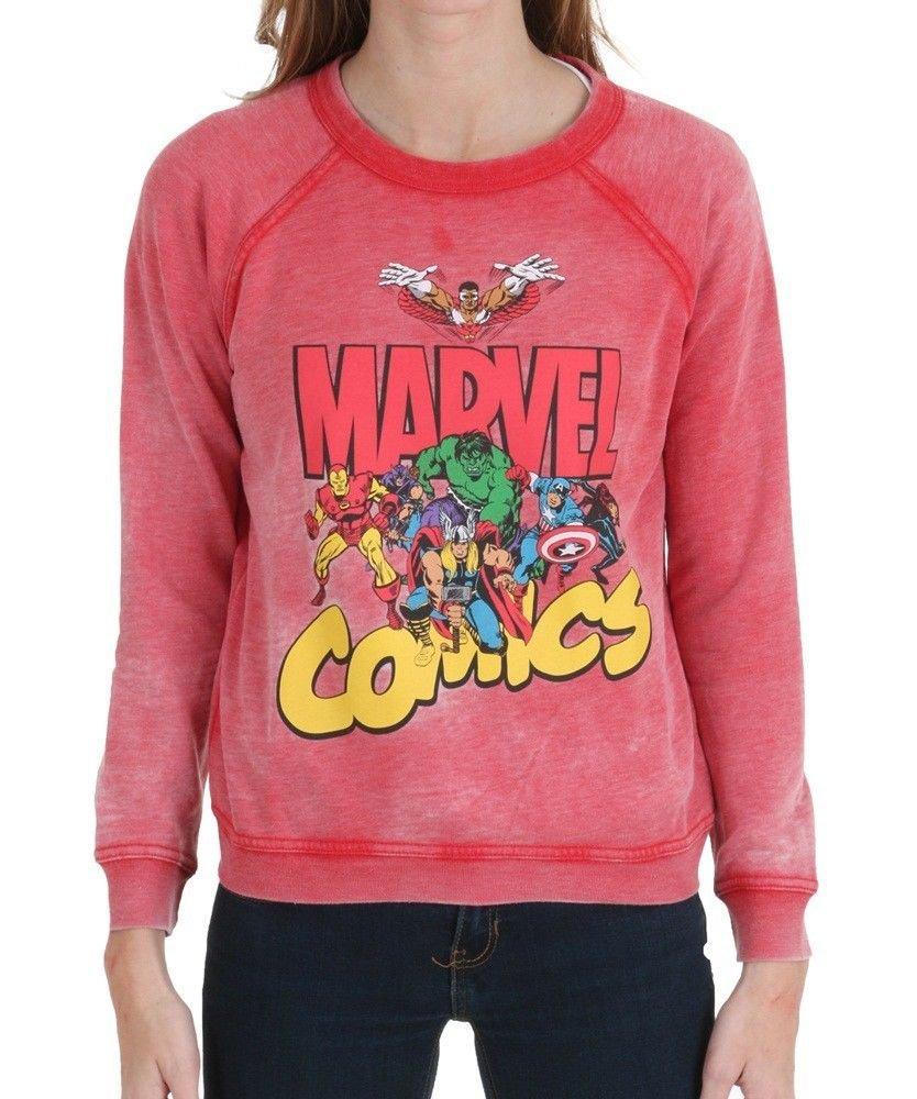 MARVEL - COMICS - RETRO - RED - SWEATSHIRT - MEDIUM - 7/9 - NEW - HULK - THOR