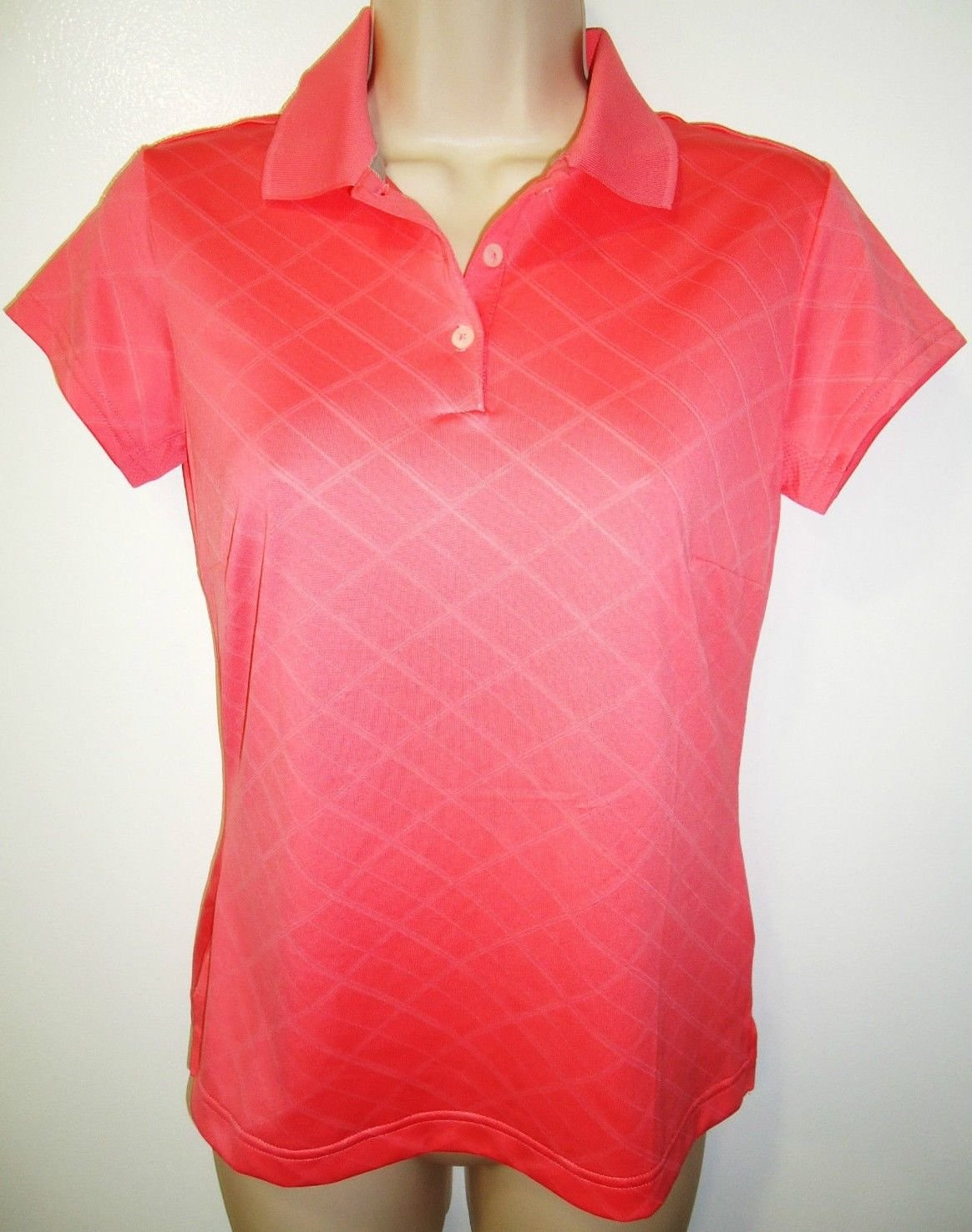 ADIDAS - XS - CLIMACOOL - PEACH - GOLF - TOP - POLO - SHIRT - LPGA - BRAND NEW