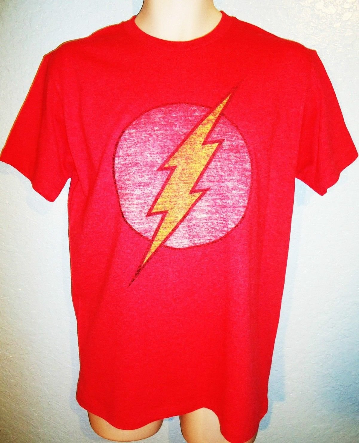 DC COMICS - THE FLASH - RED - RETRO - T-SHIRT - XL - NEW - JUSTICE LEAGUE