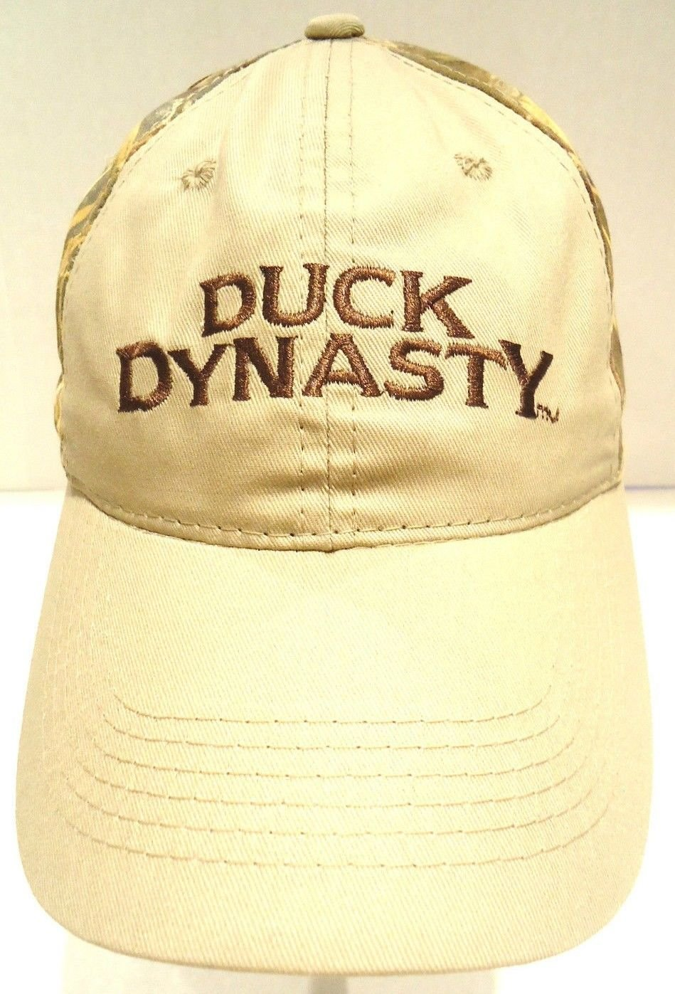DUCK DYNASTY - REAL TREE - BEIGE - CAMOUFLAGE - BASEBALL - CAP - HAT - BRAND NEW