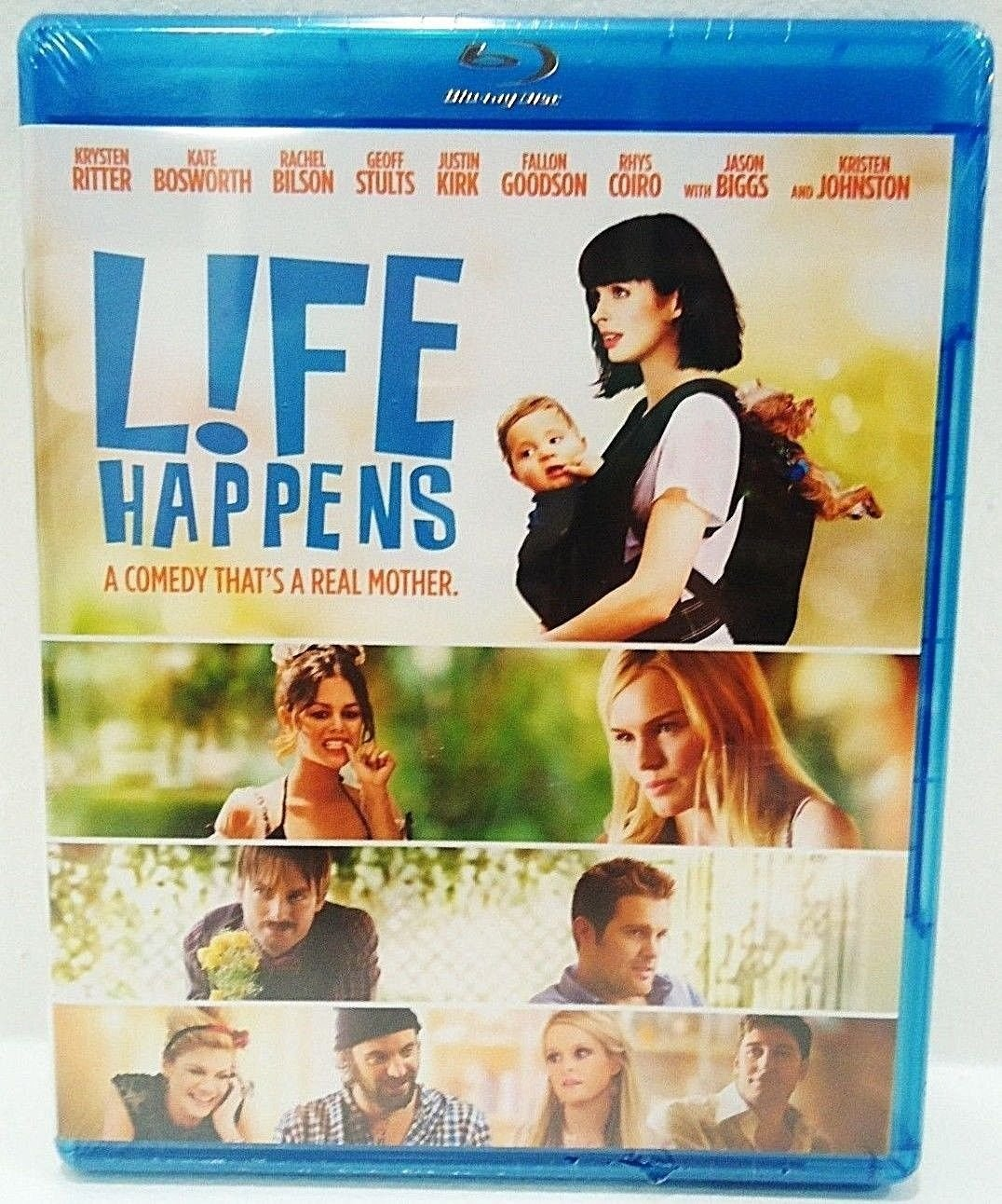 LIFE HAPPENS - BLU-RAY - DVD - KRYSTEN RITTER - NEW - COMEDY - MOTHERHOOD - FILM