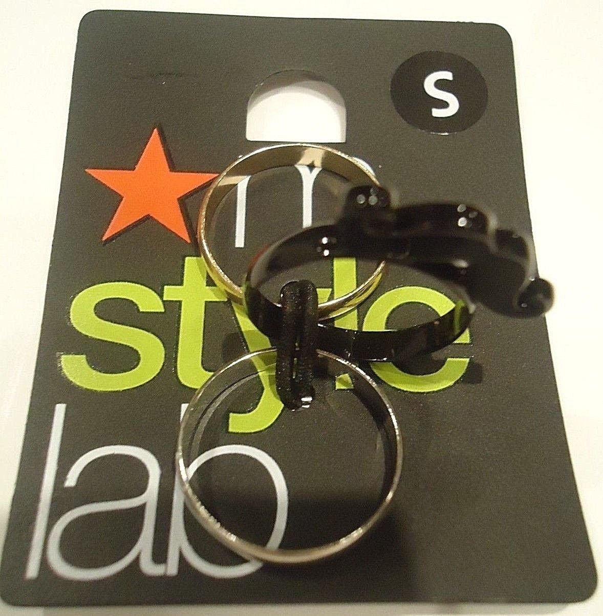 MACY'S - M STYLE LAB - 3 PACK - FASHION - RINGS - BRAND NEW - NWT - SMALL