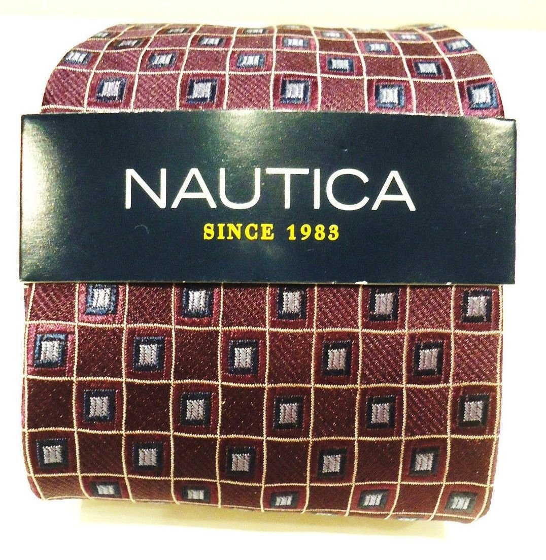 NAUTICA - PURPLE - BLUE - GRAY - SILK - TIE - BRAND NEW - NAUTICA - TIES - NWT