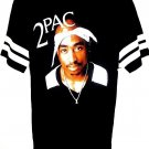 TUPAC - HIP HOP - MUSIC -  RETRO - BLACK - WHITE - TEE - L - NEW - RAP - MUSIC