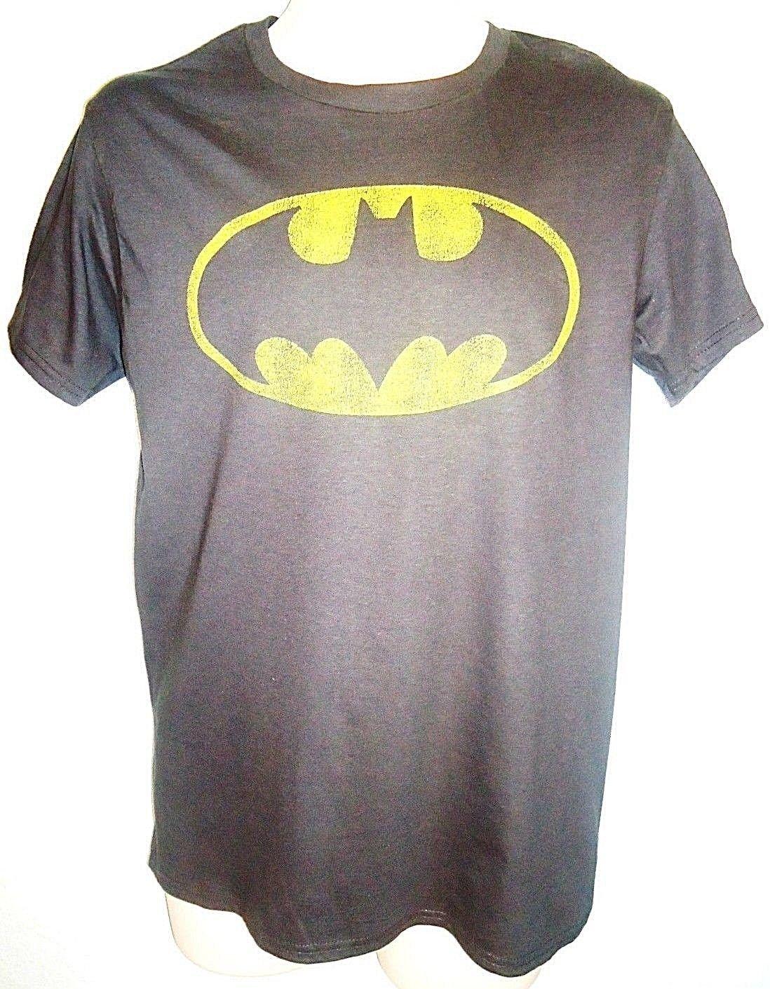 DC COMICS - BATMAN - BLACK - RETRO - TEE - MEDIUM - COMIC - NEW - JUSTICE LEAGUE