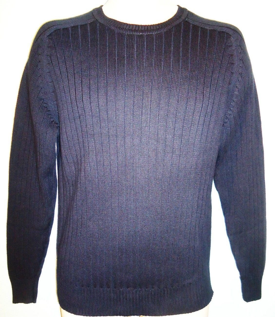 OSCAR DE LA RENTA - NAVY - BLUE - DESIGNER - CREW NECK - SWEATER - NEW - SMALL