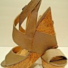 BCBG - FASHION - SANDALS - BEIGE - PLATFORM - NEW - 10B - BCBGENERATION - SHOES