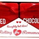 ROLLING FOR ROMANCE - VALENTINE'S DAY - LARGE - RED - WOOD - DICE - GAME - NEW