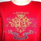 RALPH LAUREN - LAUREN - RED - LONG SLEEVE - SHIRT - TOP - M - BRAND NEW - RLX