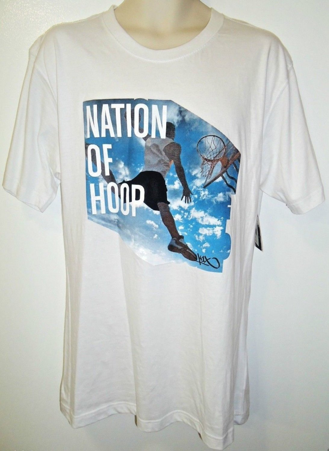K1X - NATION OF HOOP - STREET - BASKETBALL - TEE - LARGE - NEW - WHITE - T-SHIRT