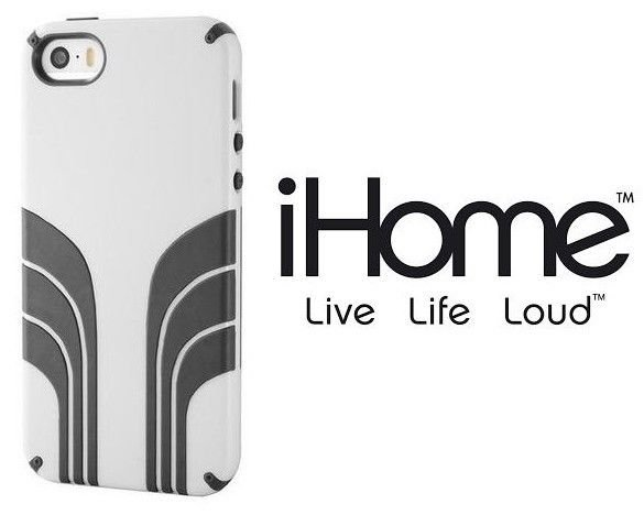 iHOME - iPHONE - 5 - 5s - AIR STREAM - CELL PHONE - CASE - WHITE - BLACK - NEW