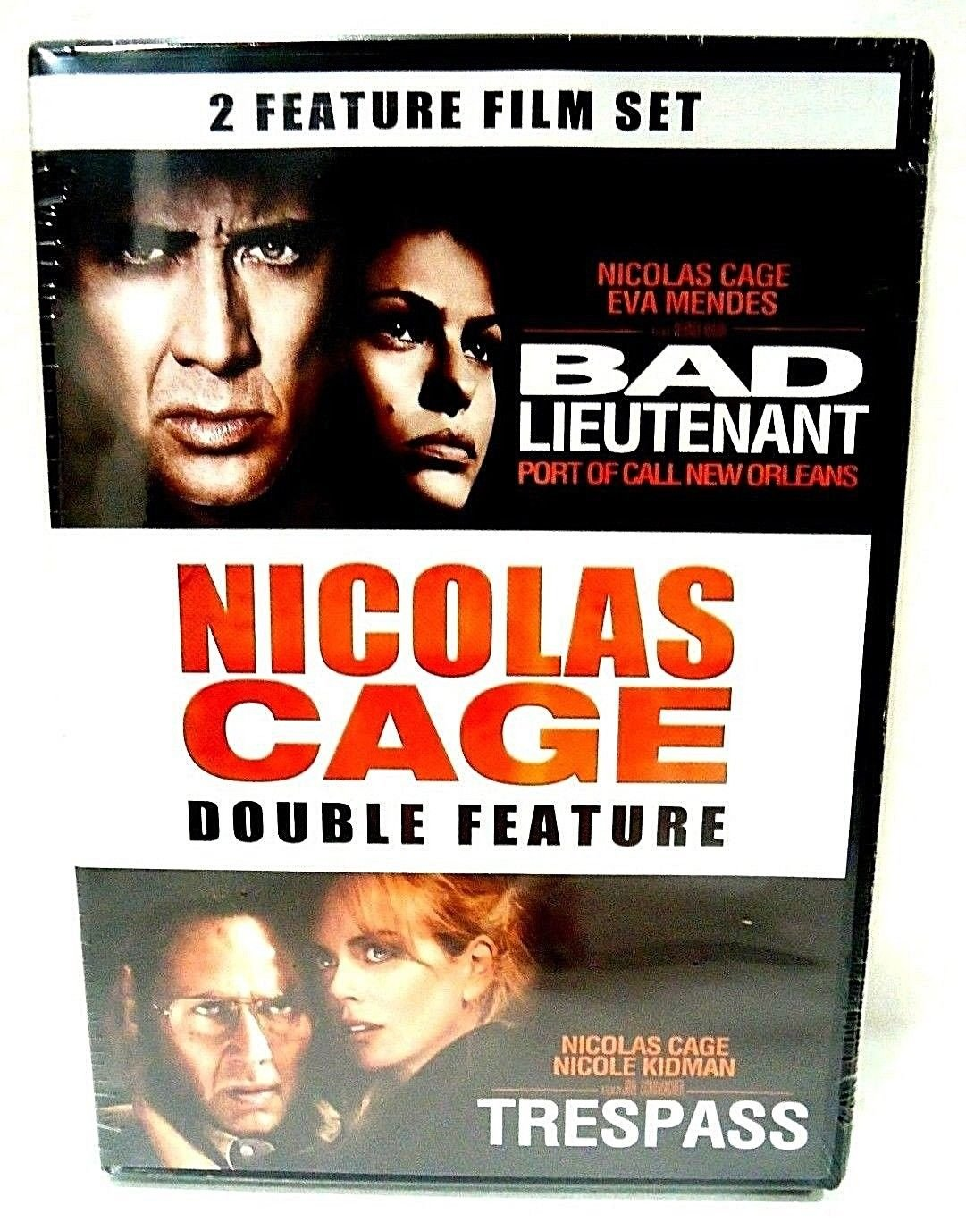 NICOLAS CAGE - DOUBLE FEATURE - DVD - TRESPASS - BAD LIEUTENANT - NEW - 2 MOVIES