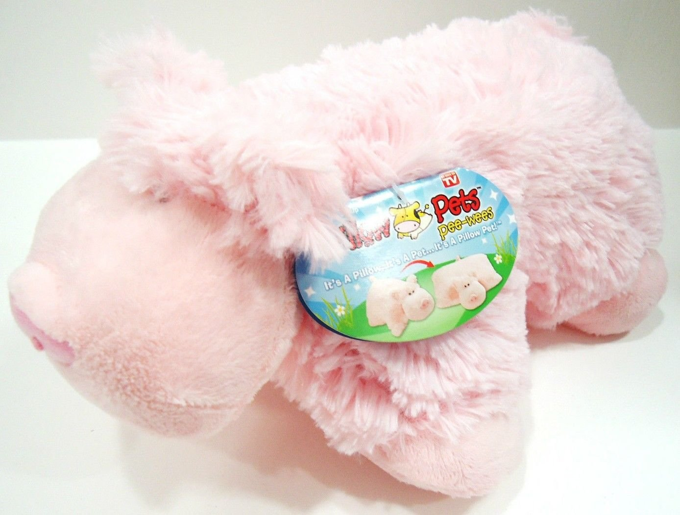 PILLOW PETS - PEE WEES - WIGGLY PIG - STUFFED - PLUSH - ANIMAL - BRAND NEW