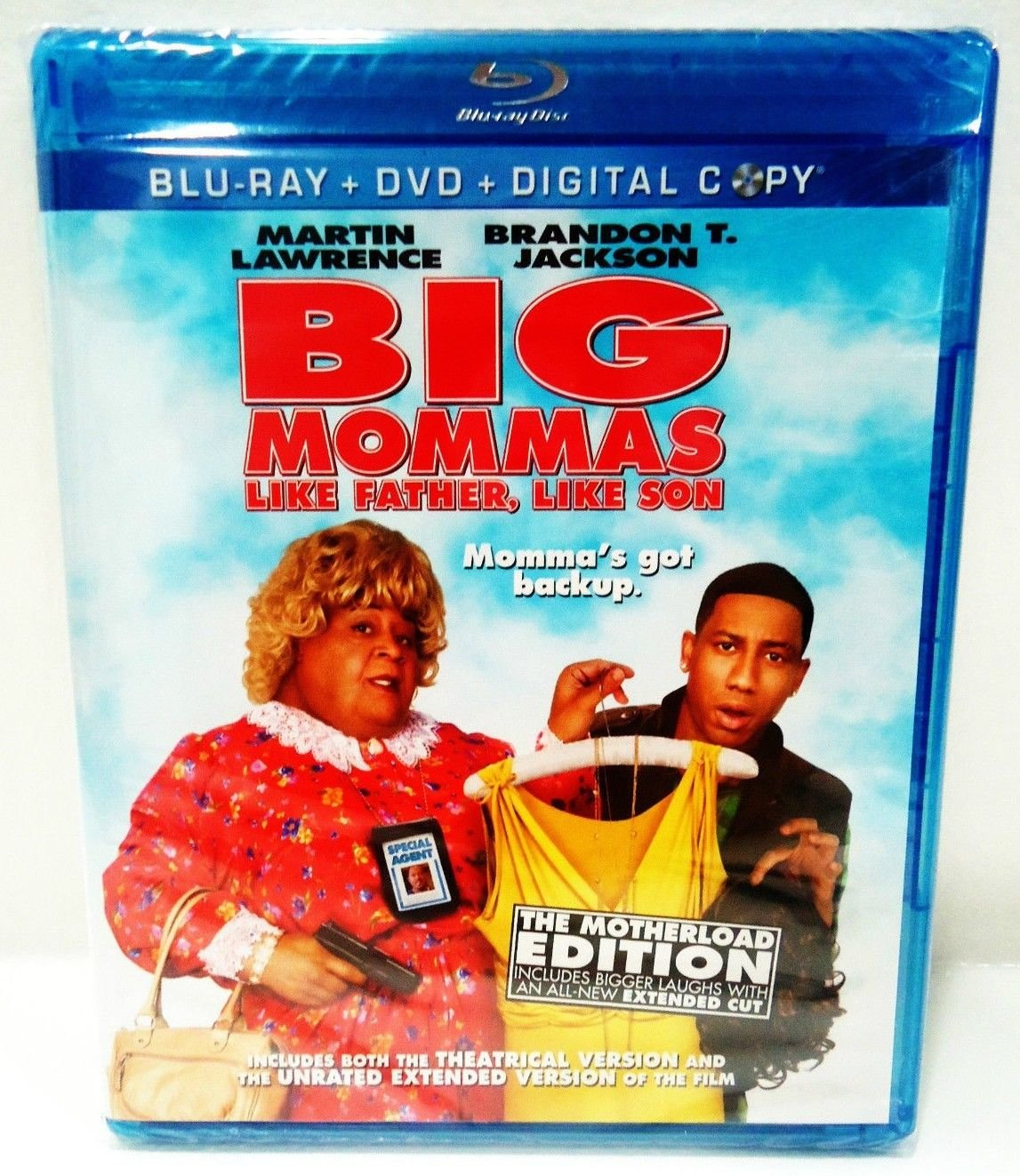 BIG MOMMAS - DVD - BLU-RAY - MARTIN LAWRENCE - NEW - 3 DISC SET - COMEDY - MOVIE