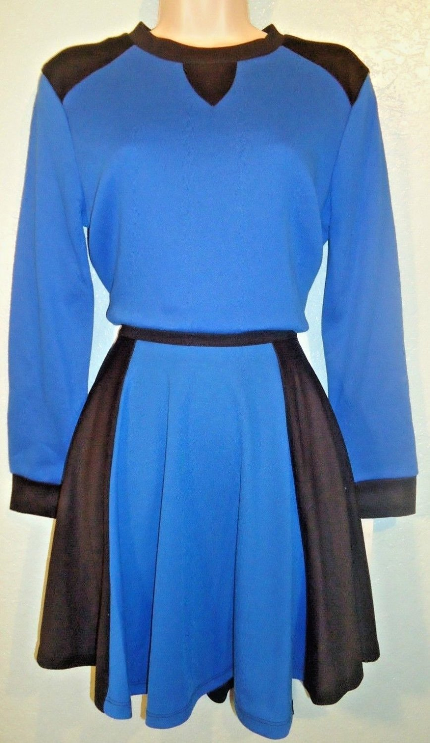 M STYLE LAB - 2 PIECE - BLUE - BALLET - OUTFIT - PULLOVER - SKIRT - NEW - MEDIUM