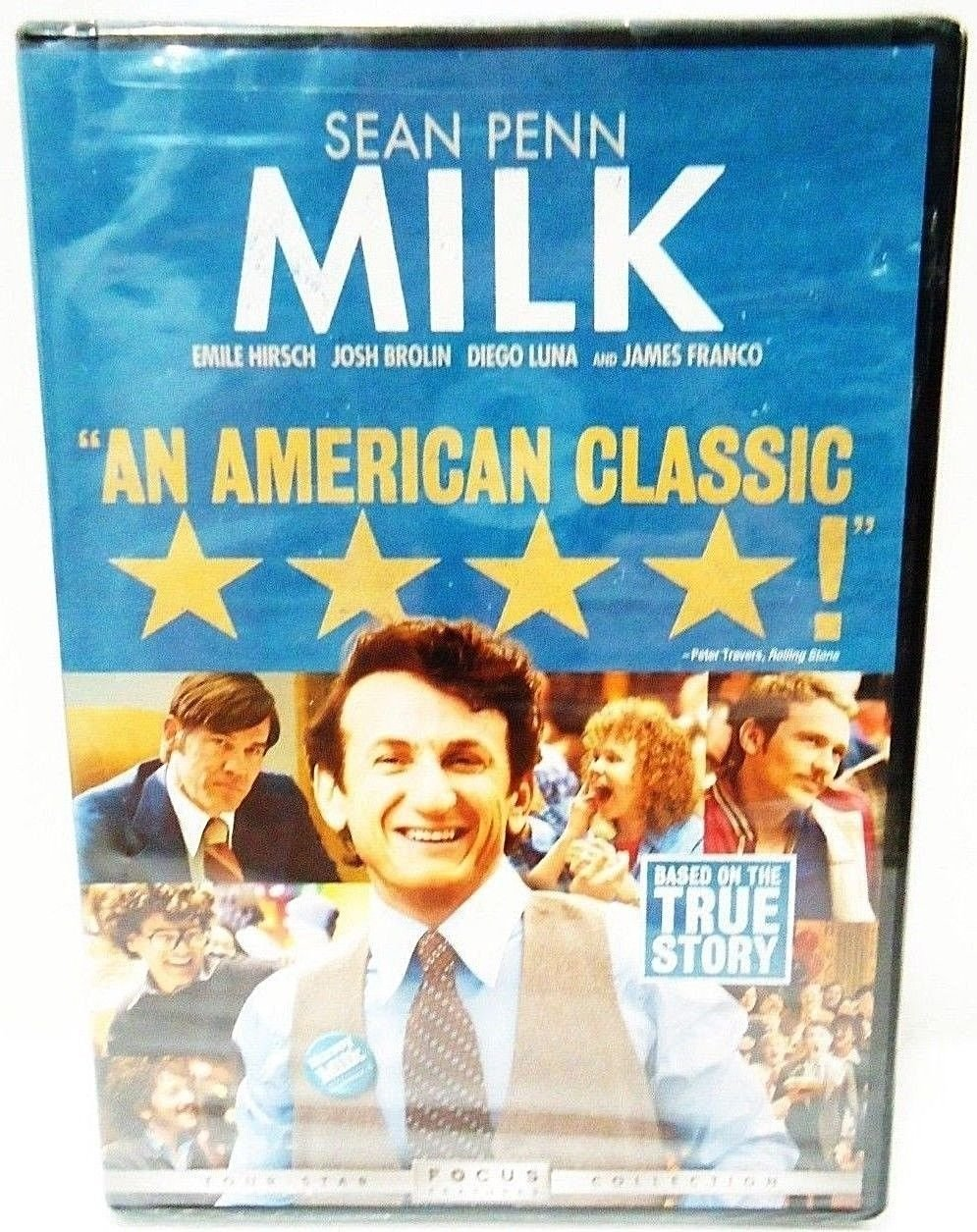 MILK - DVD - SEAN PENN - JAMES FRANCO - BRAND NEW - SEALED - HARVEY MILK - MOVIE