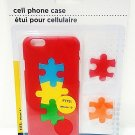 APPLE - iPHONE - 6 - RED - JIGSAW - PUZZLE - CELL PHONE - HARD - CASE - NEW