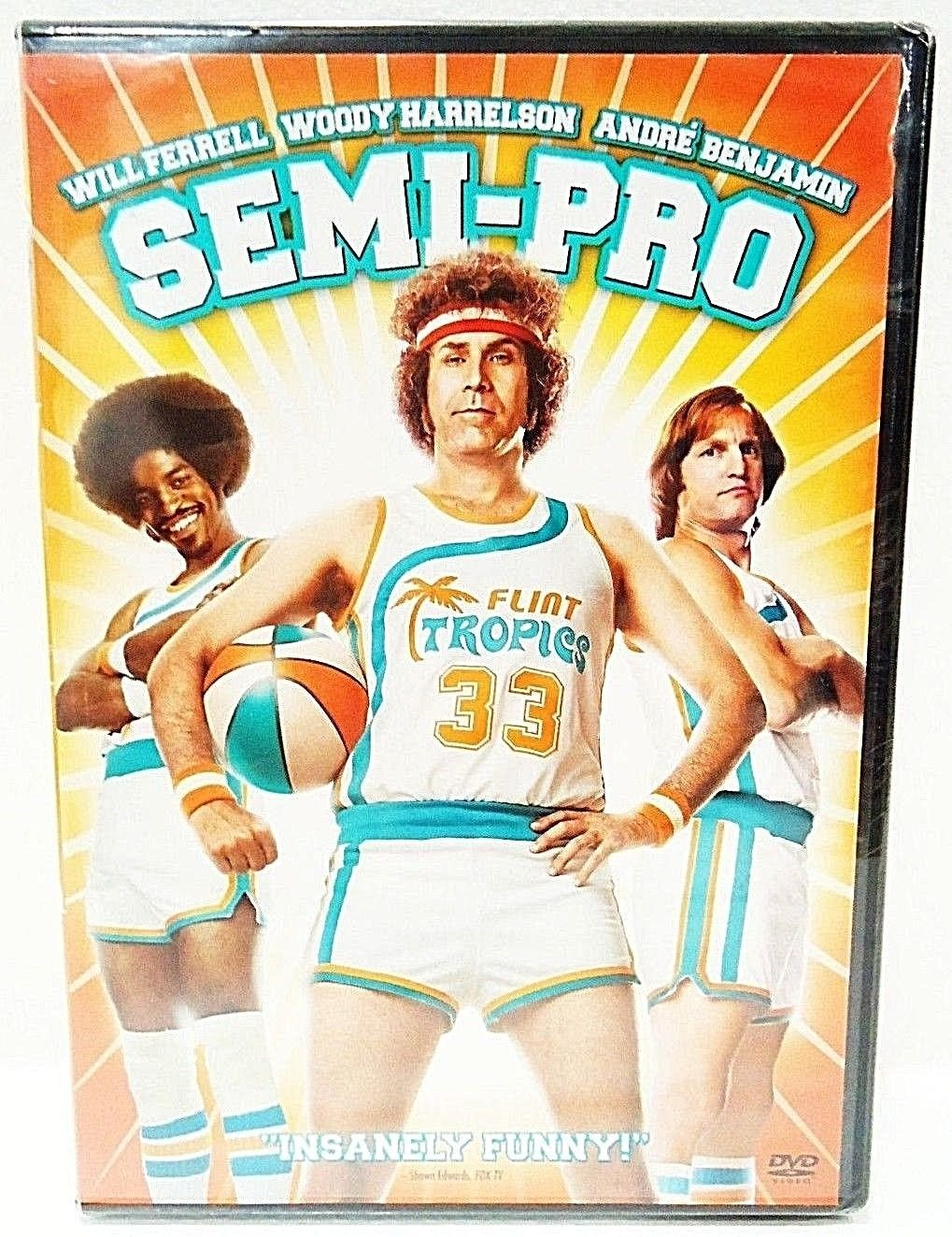 SEMI-PRO - DVD - WILL FERRWLL - NEW - SEALED - BASKETBALL - COMEDY - MOVIE - NBA